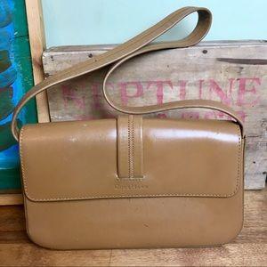 Cole Haan Camel Brown Leather Shoulder Bag